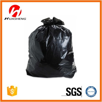 75*85cm 25g hdpe and ldpe black plastic roll trash bags
