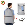 Large Laundry Bag with Hooks and Shoulder Straps