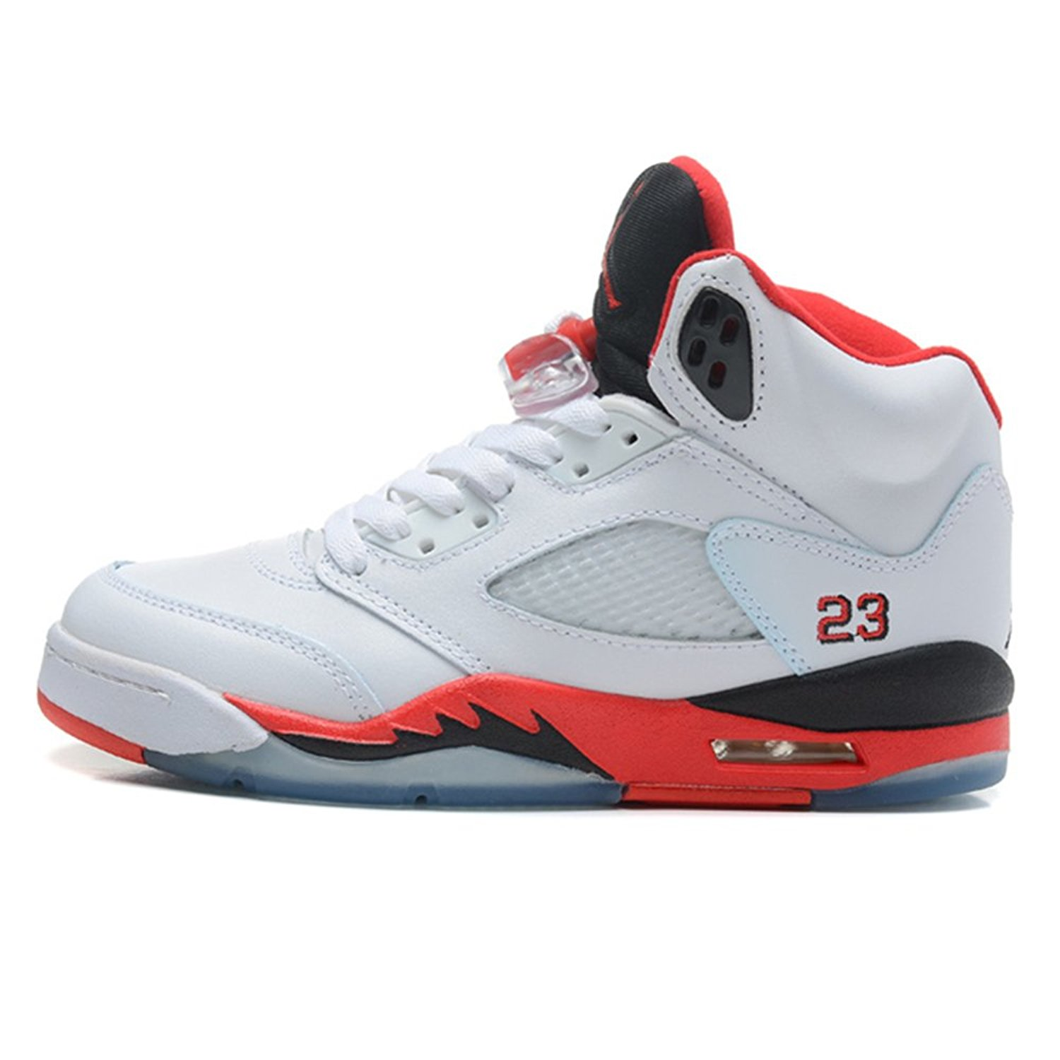 on sale a1faa 21b8d Get Quotations · Ambar Zuiga Jurado Men s Basketball Sneakers Joe Five  Generation Air Jordan V Fire Red AJ5 Red