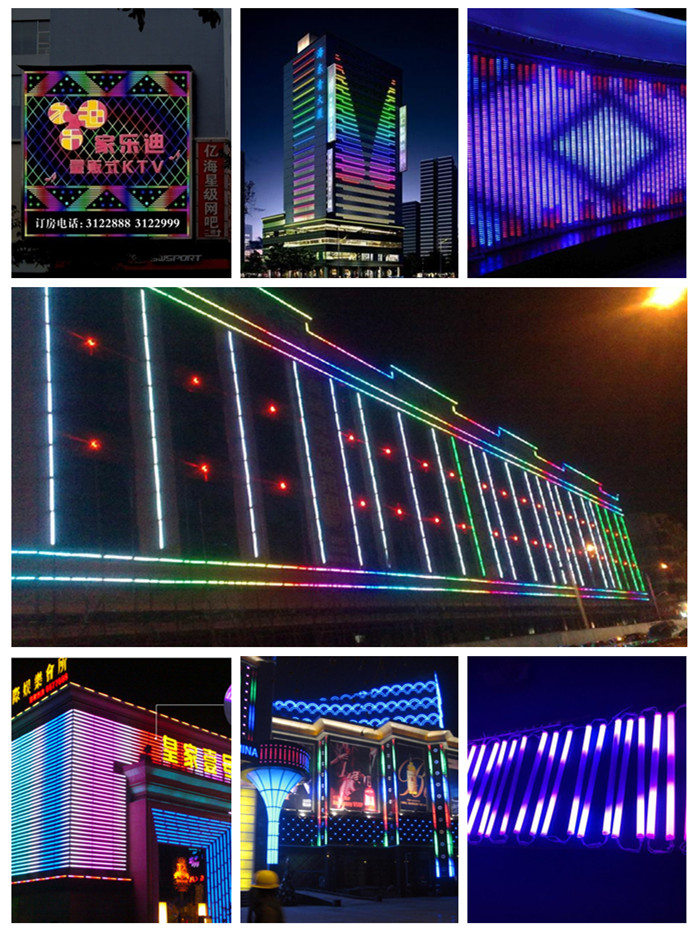 Rgb Outdoor Waterproof Color Changing Ip65 9W Dmx Led Digital Tube Light