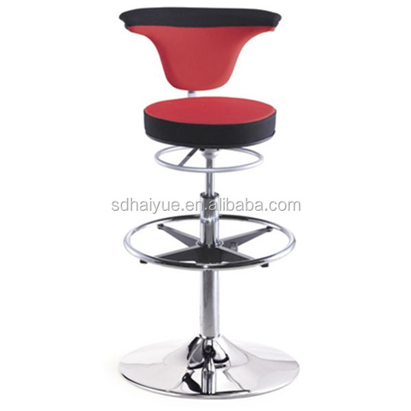HY1037H Ergonomic New Red YIDAR Fabric Footrest Bar Stools ITEM1037H
