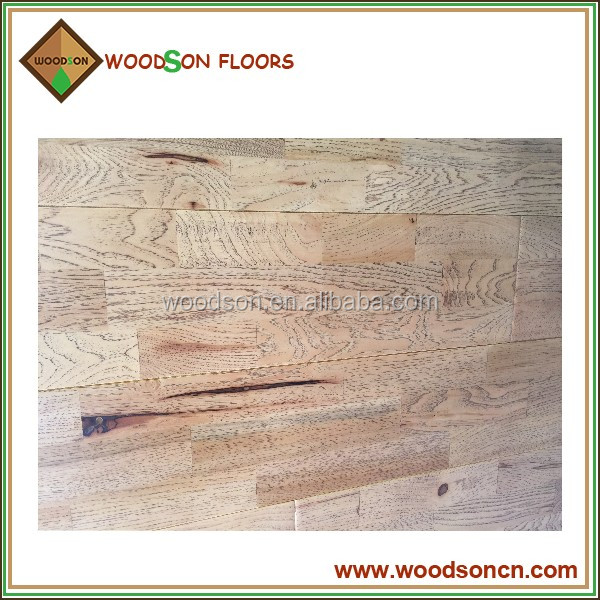 Pre-finished Click System Hickory Solid Wood Flooring
