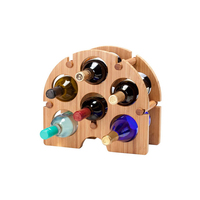 Bamboo Wine Bottle Holder Free Standing Wine Storage Rack Bamboo Arch Wine Rack - 6 Bottle Homex BSCI/Factory