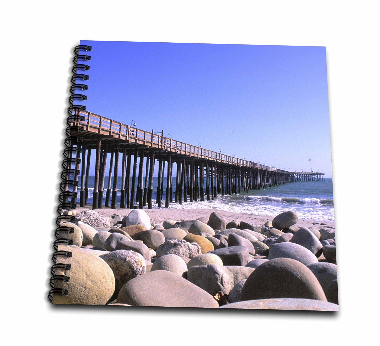 Danita Delimont - Peter Bennett - Piers - Ventura Pier, Ventura County, California, USA - Drawing Book 8 x 8 inch (db_191717_1)