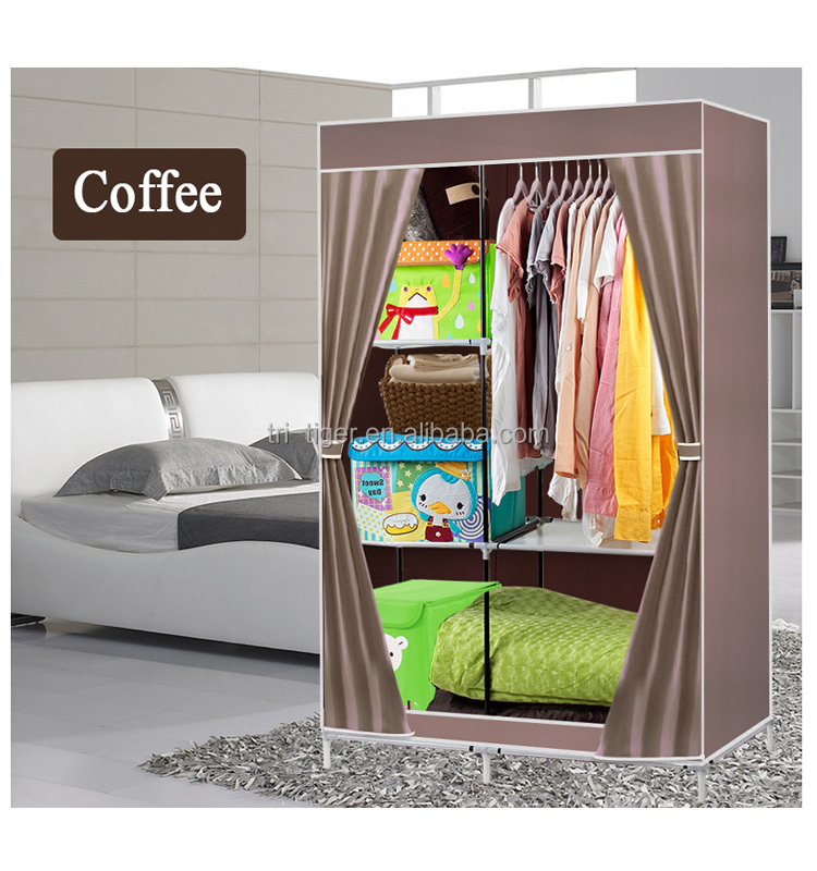2 Door Bedroom Clothing Storage Portable Fabric Wardrobe Closet - Buy  Fabric Wardrobe Closet,Portable Fabric Wardrobe Closet,Portable Fabric  Wardrobe ...