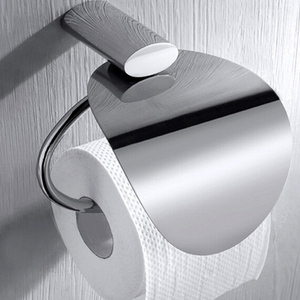 New Bathroom Wall Mounted Hanging Toilet Tissue Roll Brass Chrome Paper Holder