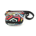 Colorful hand made cosmetic bag neoprene small pouch