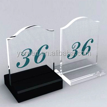 Acrylic sign tag display board trophy acrylic sign holder led
