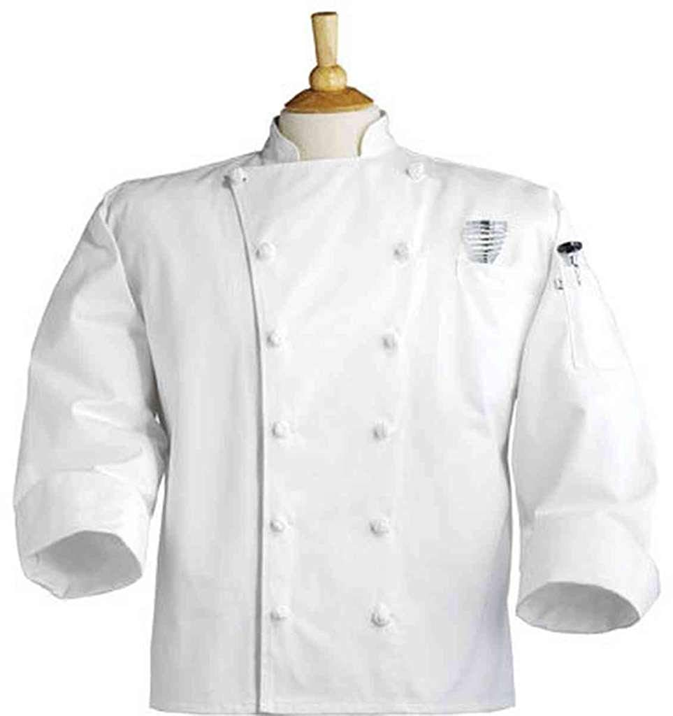 2b6174bb461 Get Quotations · Uncommon Threads Unisex-Adults Plus Size Executive Chef  Coat WHT, White 24, 6XL