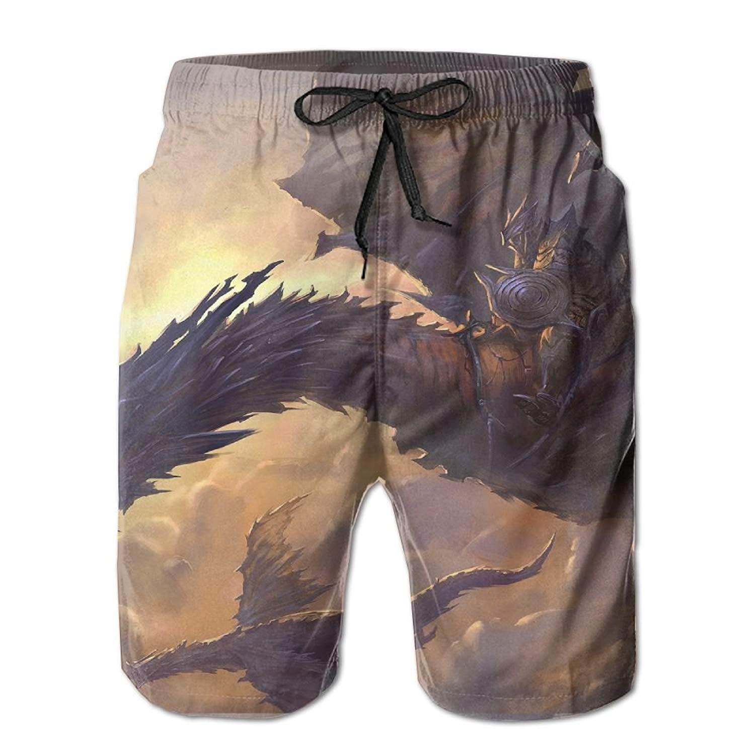 0be150c2b3 Get Quotations · Dragon Sky Clouds Rider Wings Black Fantasy Handsome  Fashion Summer Cool Shorts Swimming Trunks Beachwear Beach