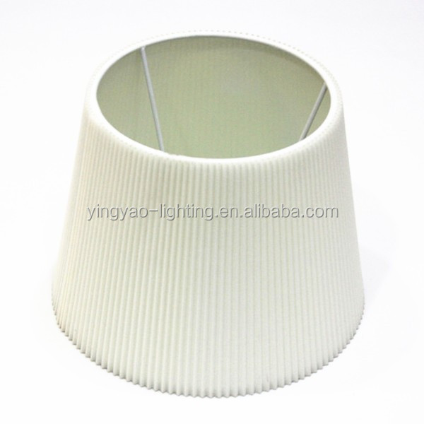 Pleated Cloth Covered Lampshade Pleated Fabric Lamp Shade
