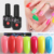 Free shipping easy off color uv gel platinum nail polish eco -friendly and healthy thinner gel polish