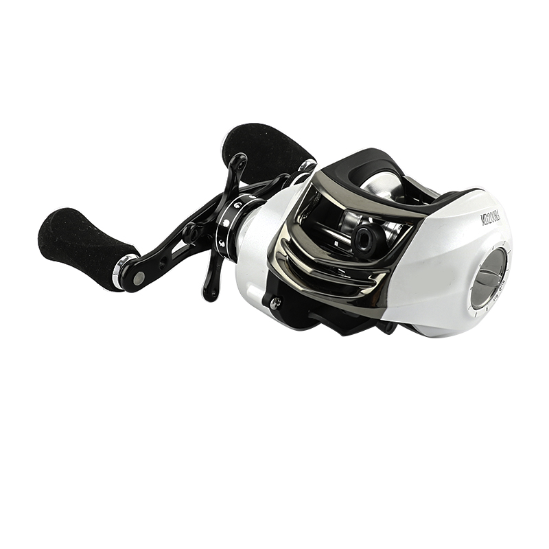 FJORD white 8+1BB 6.3:1 Metal baitcasting fishing reel Korea stock fishing reel, White or customized