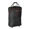 New 32 Inch Black Travel Duffel Bag Carry On Luggage Rolling Wheels Expandable