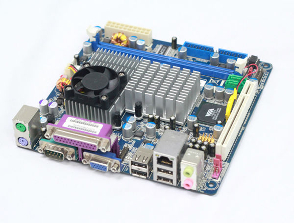 Cheap Desktop DDR2 Ram Compatible Motherboard with VIA C7-D 1.6GHz CPU/FSB800