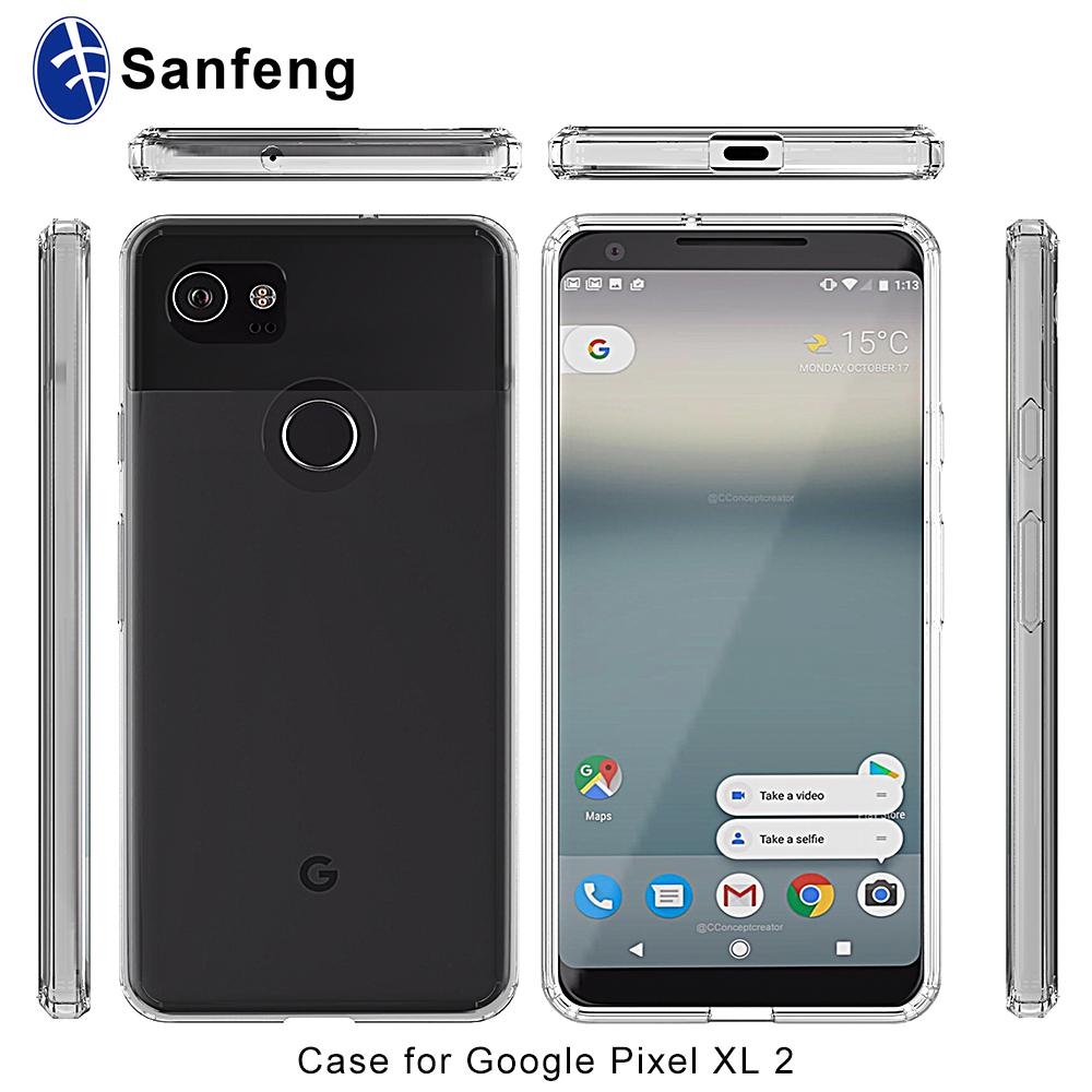 half off 401fa cd907 For Google Pixel 2 Xl Clear Case,Anti Scratched Acrylic Transparent Hard  Back Cover Tpu Bumper Case For Google Pixel 2 Xl - Buy For Google Pixel 2  Xl ...