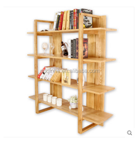 top sale white Ash solid wood book shelf shelf rack invisible shelf support