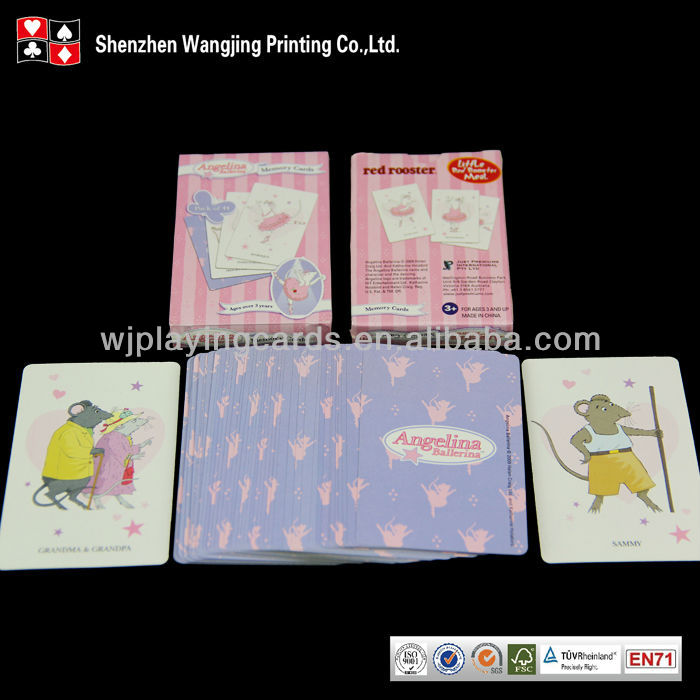 Find Complete Details about Cartoon Playing Game Card For Children