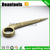 Non Sparking Construction hexagonal wrench bent handle whole in al-cu wrench