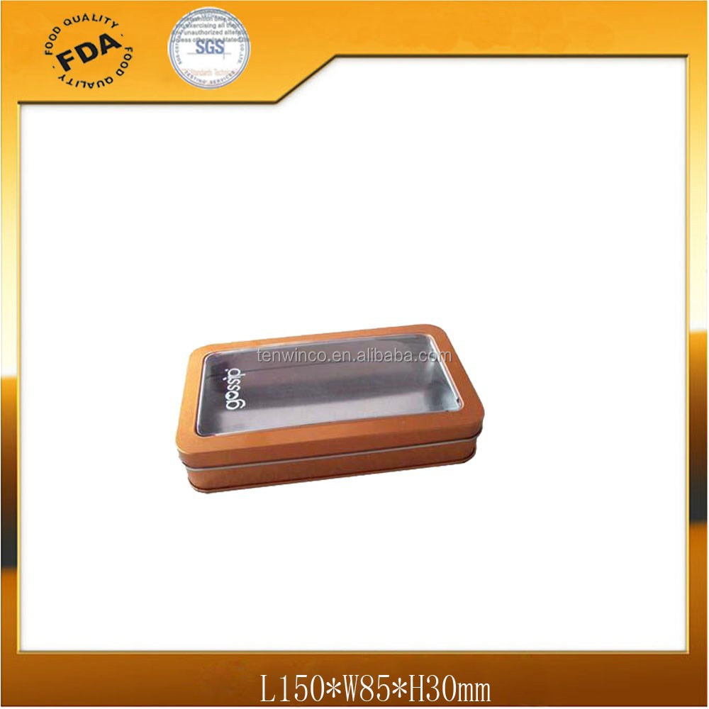 Cosmetics Gift Tin Packaging with PVC Window