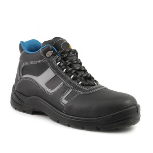 Cheap Men's Leather Work Safety Footwear Boot Shoes With Steel Toe Cap