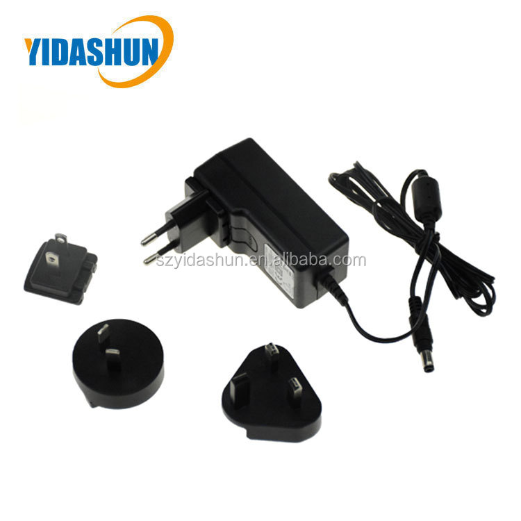 New design ac/dc adapter Wallmount type Desktop interchangeable multi plug adapter POE Power Adapter
