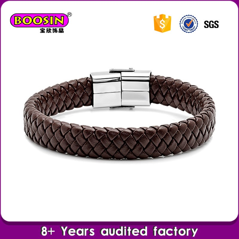 Handmade Oem Design christian leather bracelets
