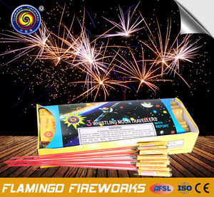 0445D Great quality 3 Whistling Moon Travellers outdoor rocket fireworks