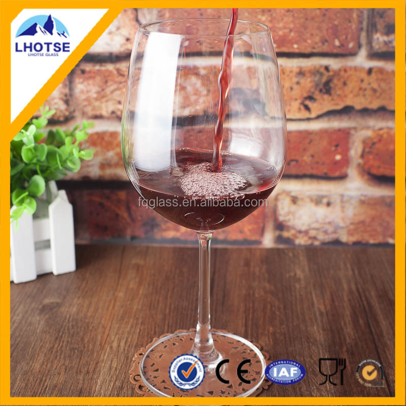 19oz Crystal Lead-Free Big Wine Glass Cup FaQiang Glass Factory