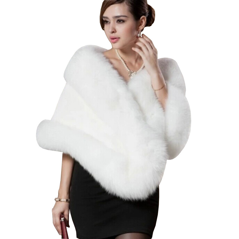 2015 New Fashion Faux Mink Fur Shawl Autumn And Winter Mink Sleeveless Fur Shawl Cape Warm Women Fur Coat Outerwear Hot Sale
