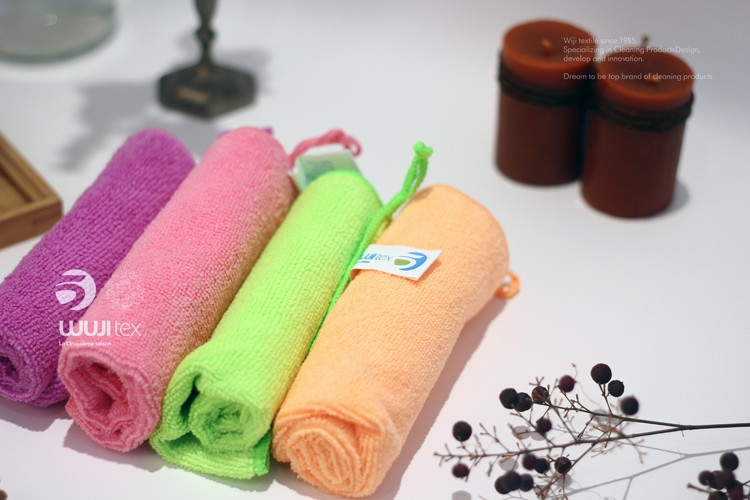 Colorful wholesale thicken quick dry for hotel cars microfiber cleaning cloth