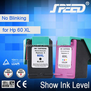 Third Party Brand Ink Visible 60 Remanufatured Ink Cartridge Replacement For Hp With Original Ink