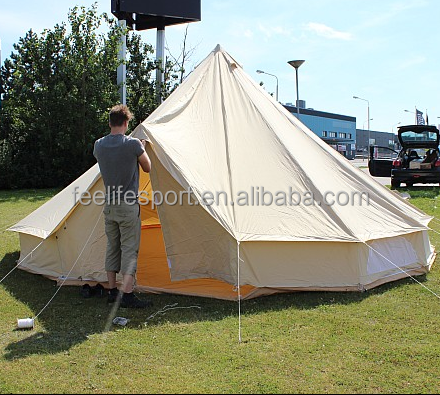 fire resistant 100% cotton canvas bell tent 5m