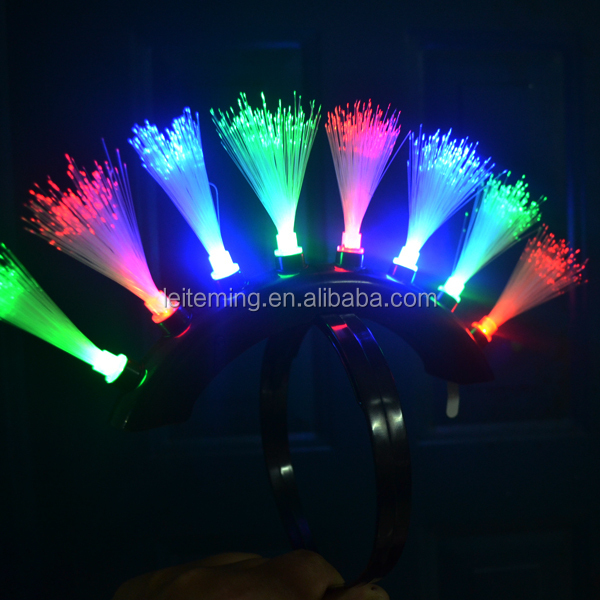Artificial Decorations Artificial & Dried Flowers Strict New Fashion Toys Girls Colorful Led Glow Fiber Braid Headdress Lights Birthday Party Christmas Decorations Numerous In Variety