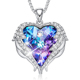CDE Wholesale Fashion Womens Jewelry Angel Wings Heart Pendant Necklace