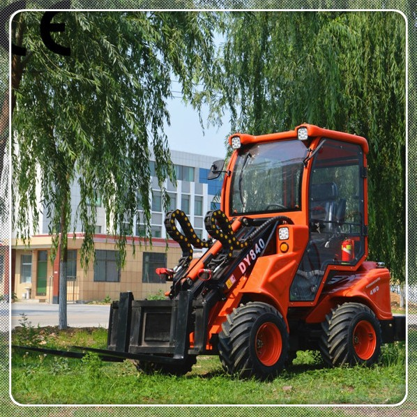 High Power Mini Loader Dy840 Small Garden Tractor Front End Loader For Sale Buy Mini Loader