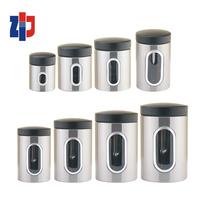 food storage box stainless steel canister set spice jar