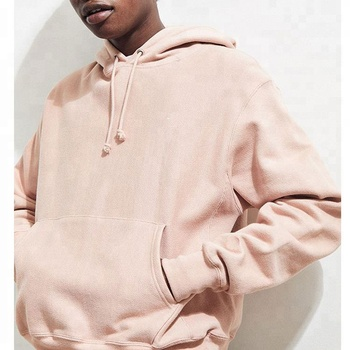 Custom Plain blank pink hoodies with no labels mens hooded sweatshirts