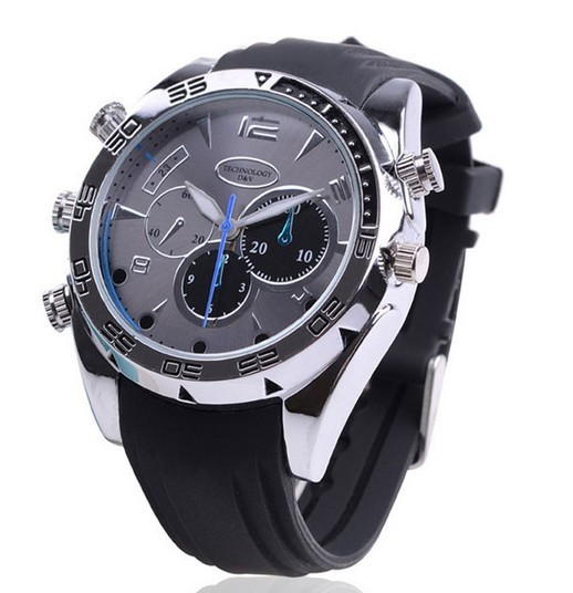 HD 1080P Full Night Vision Video spy camera watch with 4 gb built-in wrist watch hidden camera