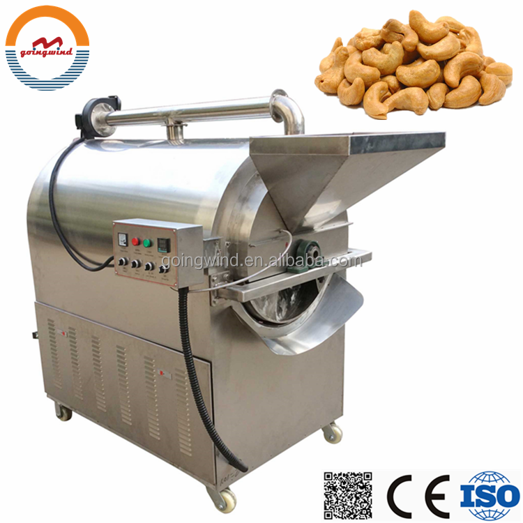 Automatic flavored cashew nut roasting machine auto commercial cashew nuts roaster equipment cheap price for sale