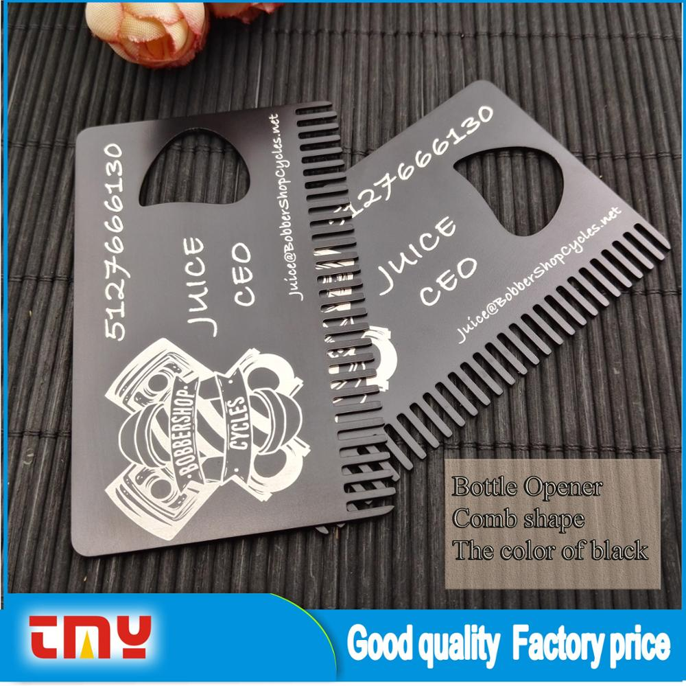 Laser Cut Black Business Card Bottle Opener,Metal Business Card ...