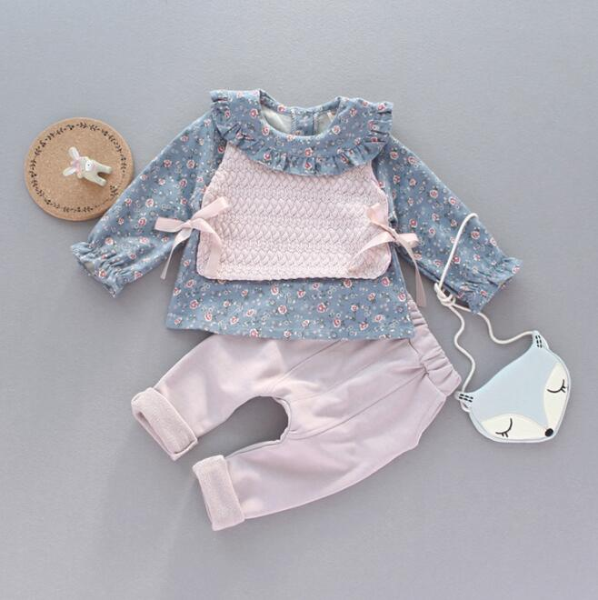 zm53725a wholesale clothing child clothes childrens boutique clothing 3 pcs baby clothing sets fall
