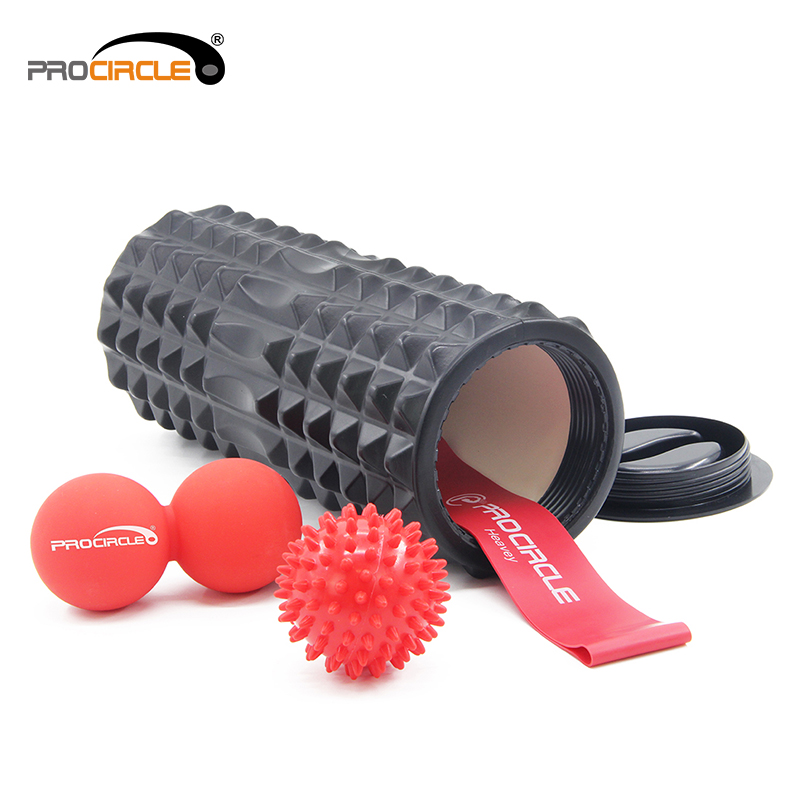 Easy Rubber Foam Massage Roller With Cap