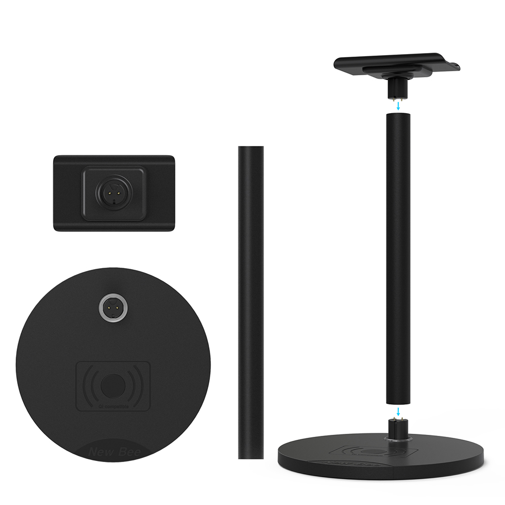 New bee brand good quality cheap price usb wireless charging headphone stand