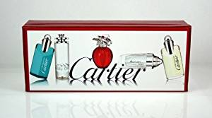 Cartier 5 Piece Miniature Perfume & Cologne Gift Set for Men & Women .13 oz/.15 oz.