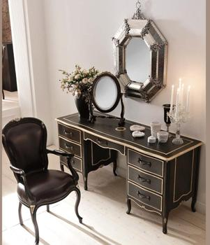 French Rococo Bedroom Furniture Antique White Wood Carved Makeup Black Dresser Console Table Desk With Mirror Buy French Rococo Bedroom Dresser Desk Antique White Wood Carved Console Table French Style Console Table Product