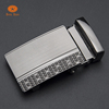 New product 35mm zinc alloy automatic belt buckle with loogo and magnet