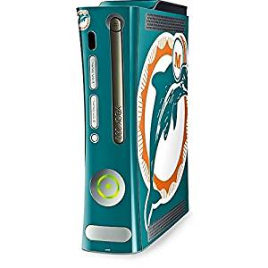 NFL Miami Dolphins Xbox 360 (Includes HDD) Skin - Miami Dolphins Retro Logo Vinyl Decal Skin For Your Xbox 360 (Includes HDD)
