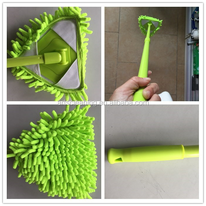 Mini Style Triangle Mop 180 Degree Rotating for Shower Room Glass Clean