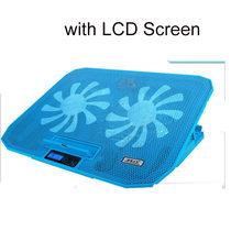 """SeenDa настольная Регулируемая подставка для ноутбука с поддержкой 12 """"до 17"""" с 2 вентиляторами, USB охлаждающая подставка для рассеивания тепла дл...(Китай)"""